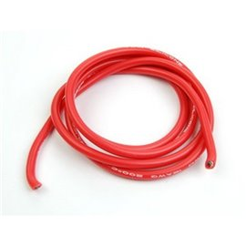Cable silicon Power Wire 12 AWG rojo (1 metro)