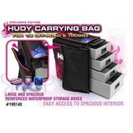 BOLSA TRANSPORTE HUDY 1/8 OFF ROAD & TRUGGY + BOLSA HERRAMIENTAS EXCLUSIVE EDITION